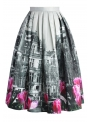 "Midi Skirt ""Tulips in the city"""