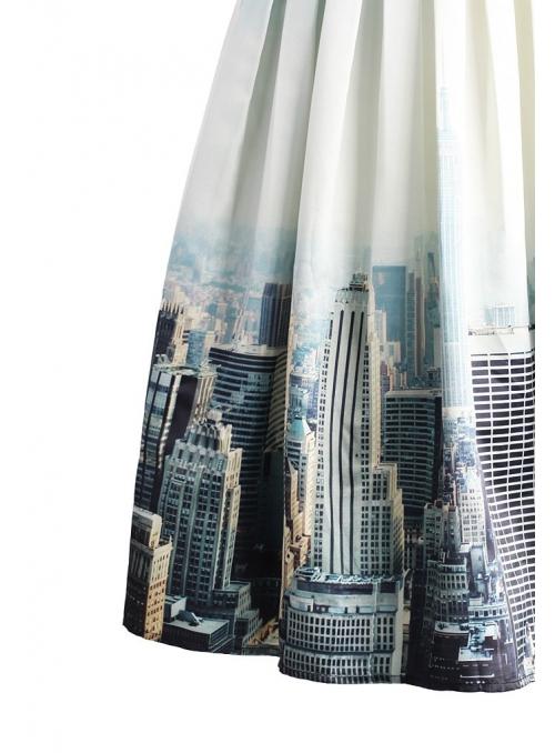 """Midi sukně """"New Yorská scenérie"""""""