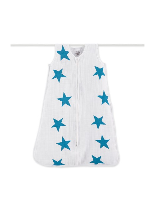 Sleeping bag - BLUE STARS size small / 0-6 months /