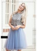Lunicite padavá KOBALTOVÁ – exkluzivní tylová sukně kobaltovo modrá