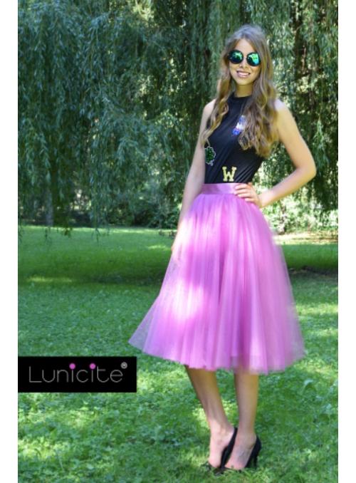 Lunicite ZÁŘIVÝ TULIPÁN LILA - exkluzivní tylová sukně zářivá lila