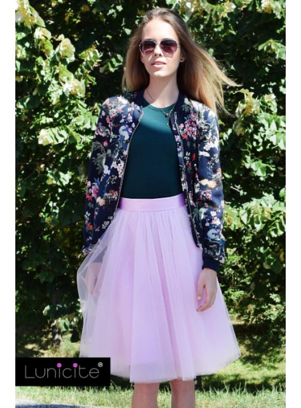 Lunicite BLEDO RUŽOVÝ TULIPÁN – exkluzívna tylová sukňa bledo ružová