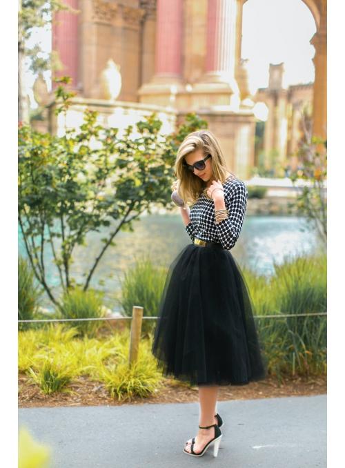 Lunicite ČERNÝ TULIPÁN - exkluzivní tylová sukně černá