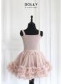 nazberkaná DOLLY sukňa pudrovo ružová