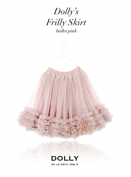 DOLLY frilly skirt powder pink
