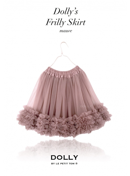 DOLLY frilly skirt mauve