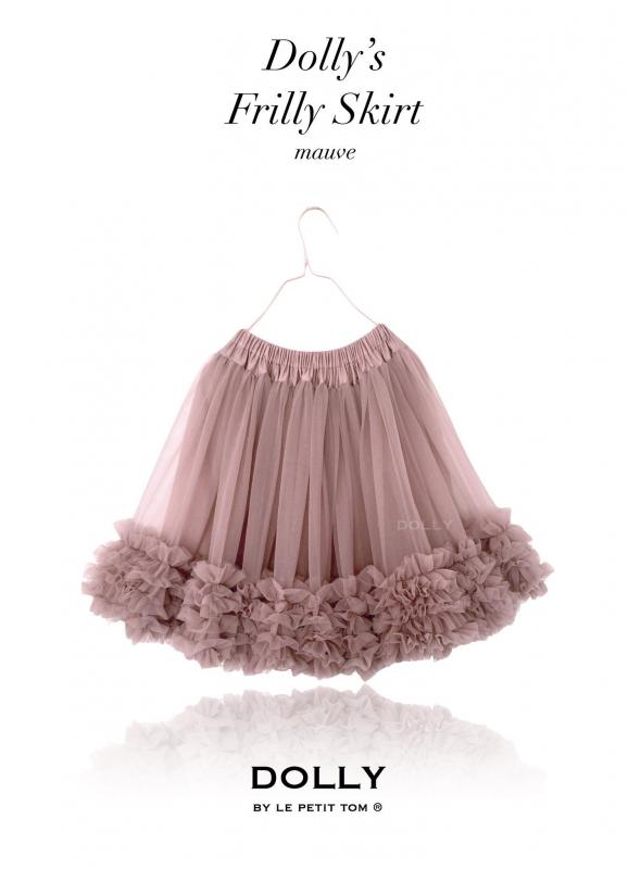 nazberkaná DOLLY sukňa mauve