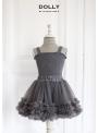 nazberkaná DOLLY sukňa šedá