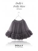 DOLLY frilly skirt grey