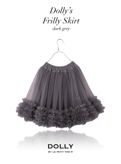 DOLLY frilly skirt grey