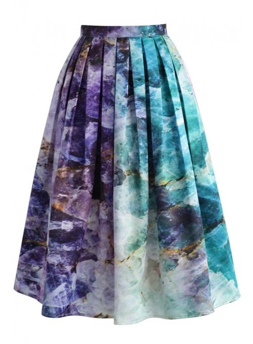 """Midi sukně ,,Kříšťálové pobřeží"""""""