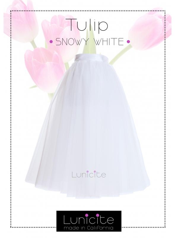 Lunicite BÍLÝ TULIPÁN - exkluzivní tylová sukně krémově bílá