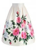 "Midi skirt ""Retro roses"""