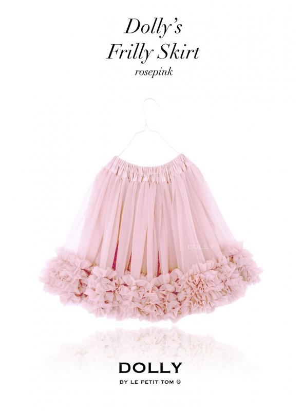 Nazberkaná DOLLY sukně pudrově růžová