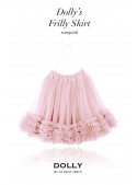 "DOLLY pink frilly skirt ""Roses"""