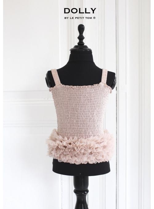 Nařasený baletní top DOLLY, růžový