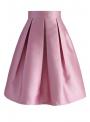 Folded pink skirt