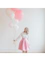 Skladaná ružová suknička
