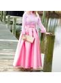 MAXI růžová sladká sukně s mašlí