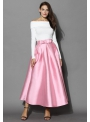 MAXI sweet pink skirt with ribbon