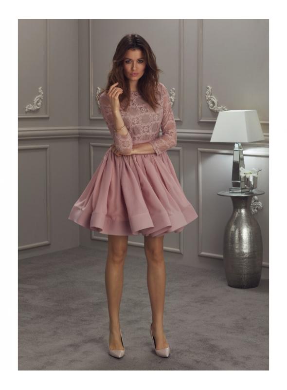 """Šaty """"Tancujúce kvety"""" růžové"""