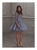"Dress ""Dancing Flowers"" ash-blue"