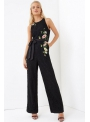 "Overall ""Black lace with flowers"""