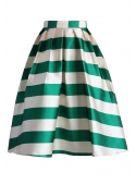 "Midi skirt ""Pastel skirt with stripes'"