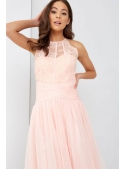 Luxury women's peach body with lace