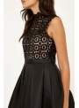 Black crocheted dress