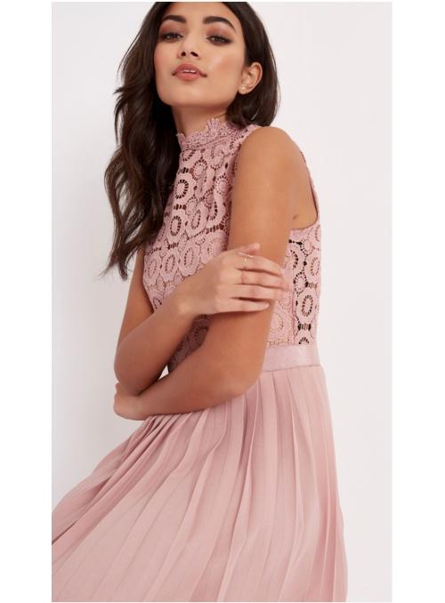 "Pliesované šaty ""Mauve princess"""