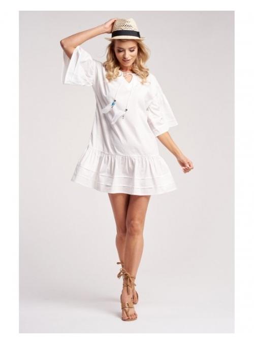 """Šaty """"Sněhobílé peříčko"""""""