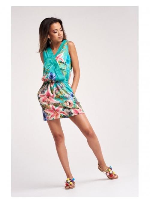 Květové šaty s překřížením