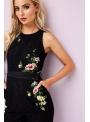 "Jumpsuit""Black lace with flowers"""