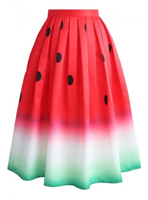"""Midi sukně """"Šťavnatý meloun"""""""