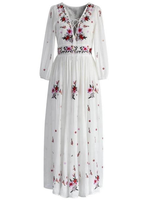 """Maxi šaty  """"Kvetinové tajomstvo"""""""