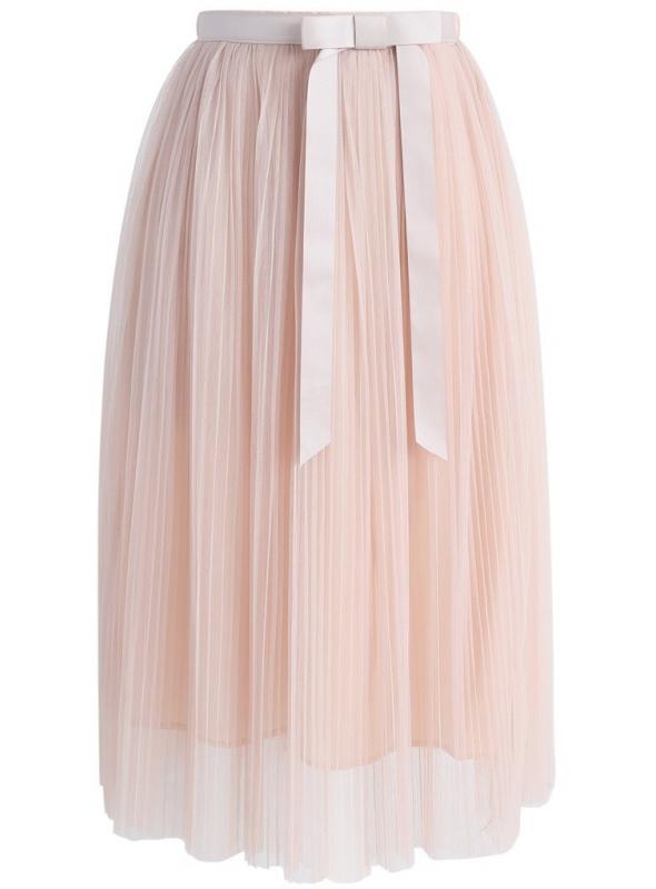 Padavá sukňe s mašlí