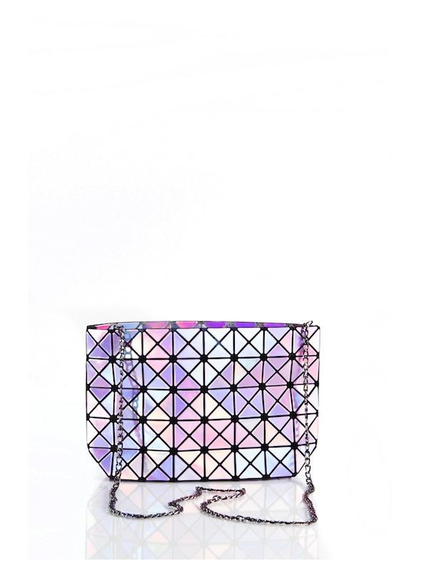 28x17x8 Fialová lesklá STAR – Mini kabelka