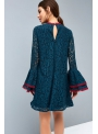 """Lace dress with ruffled sleeves """"Peacock feather"""""""