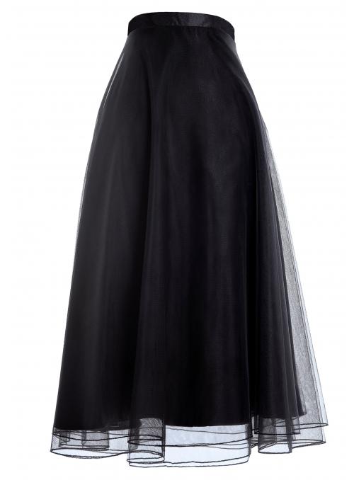 Lunicite Blackberry- Droopy chiffon skirt