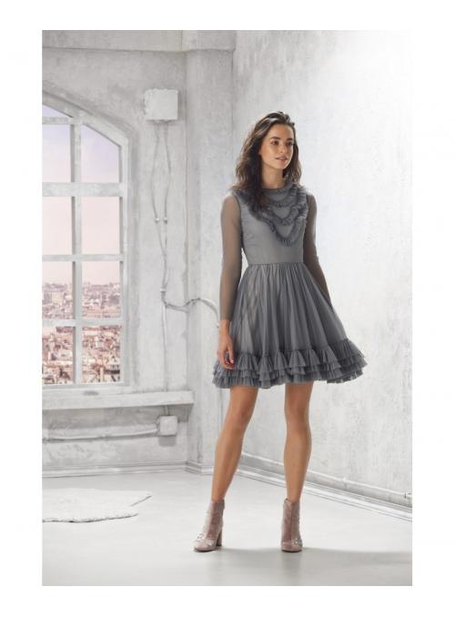 "Šaty ""Ophelia"",sivé"