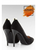 SHINY PEARL - Black ladies pumps with pearls