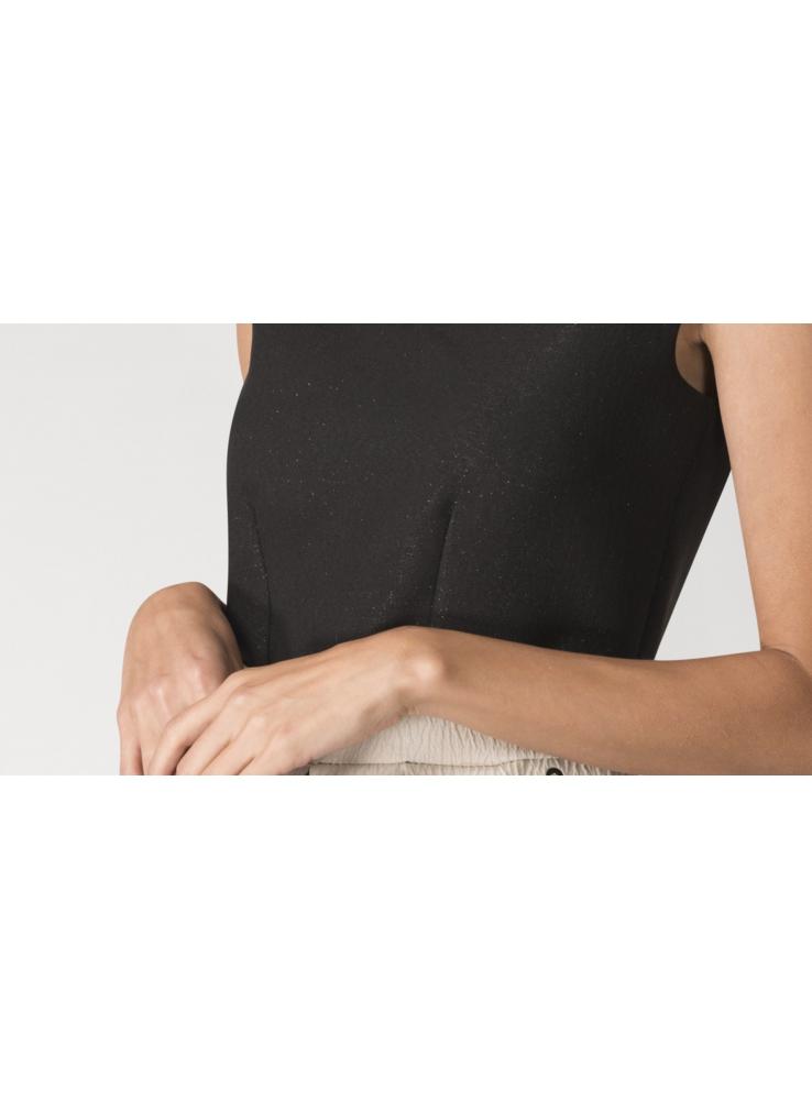b2006651783e Šaty NÁDYCH ORIENTU- zlato čierne šaty strednej dĺžky - Dadoo
