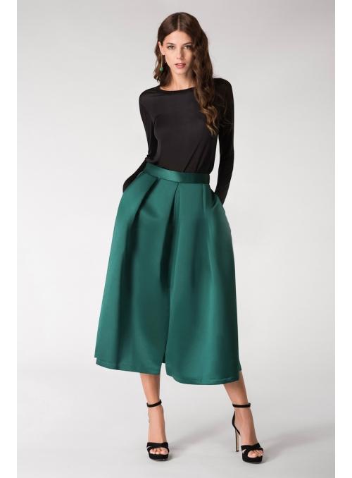 Sukňa SIMPLY GREEN- jednoduchá dlhá sukňa