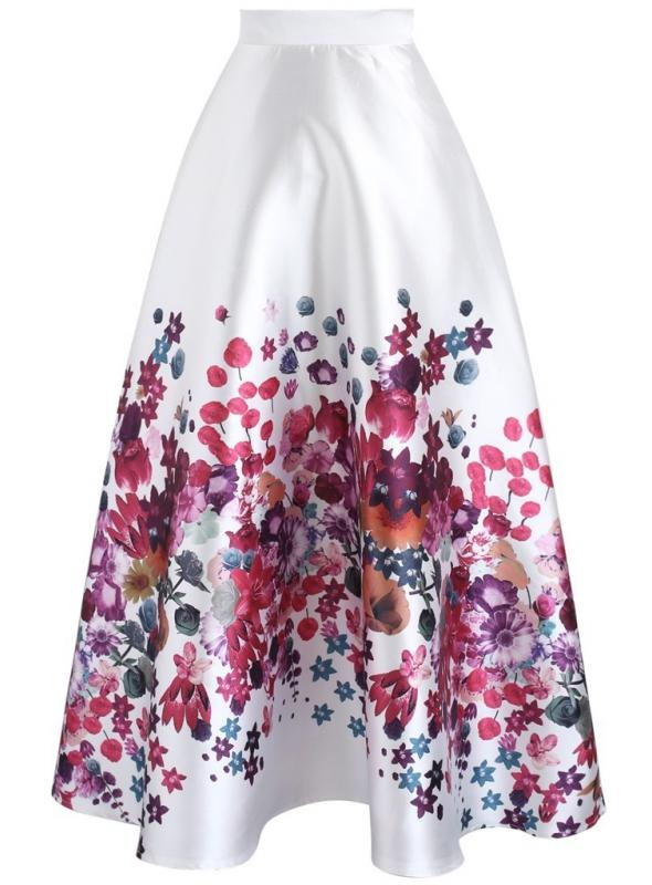 """Maxi sukňa """"Kvitnúca záhrada"""""""