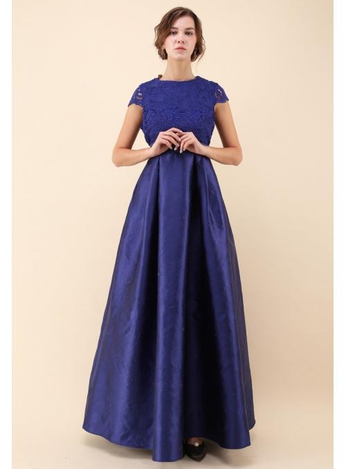 "Šaty ""Magická čipka"" ,modré"