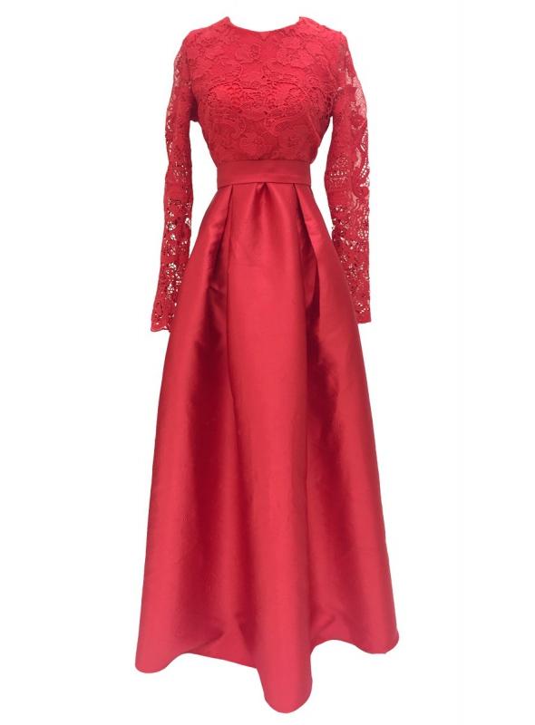 """Šaty """"Magická čipka"""" ,červené"""
