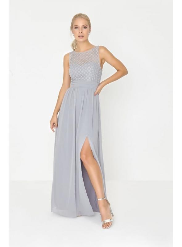 """Maxi šaty """"Strieborné perly """""""