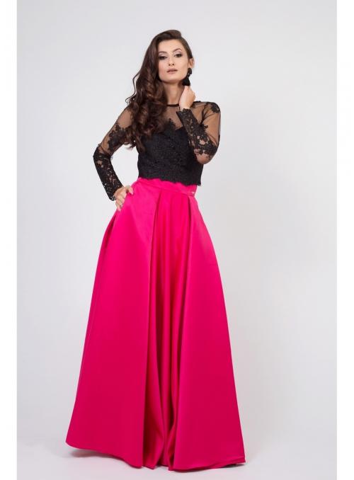 "Maxi Skirt ""Raspberries"""
