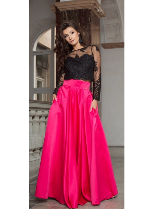 "Maxi Skirt ""Raspberries"""